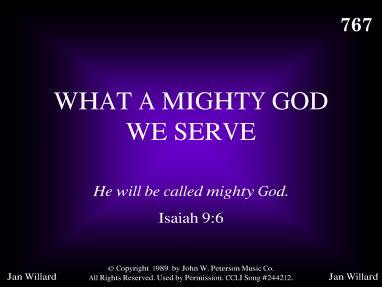 WHAT A MIGHTY GOD WE SERVE - R. J. Stevens Music